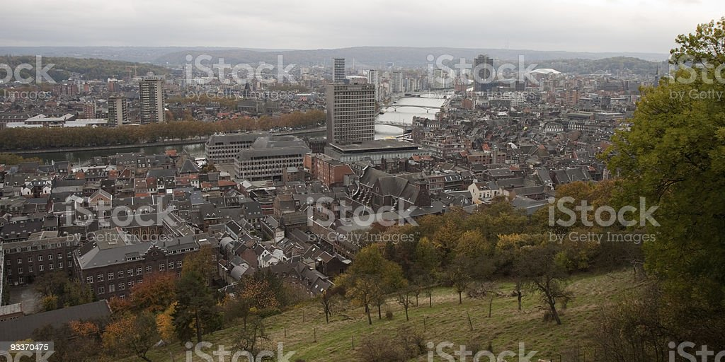 View over Liège stock photo