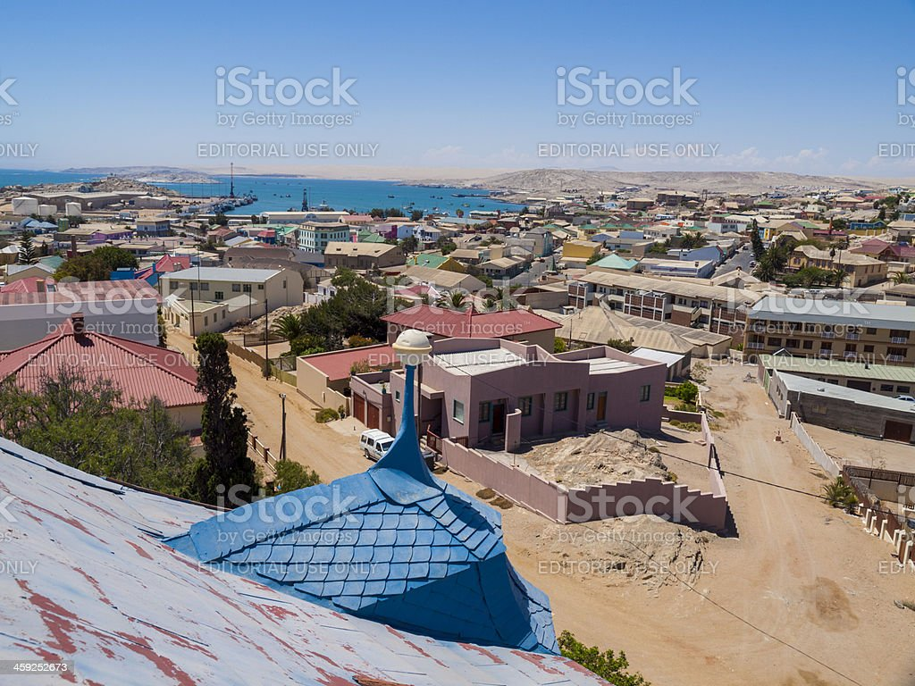 View over Luderitz, Namibia royalty-free stock photo
