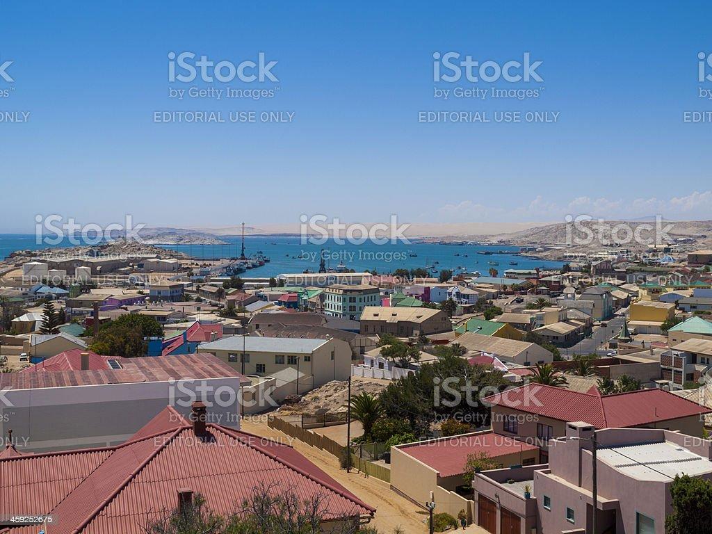 View over Luderitz, Namibia royalty-free stock photo