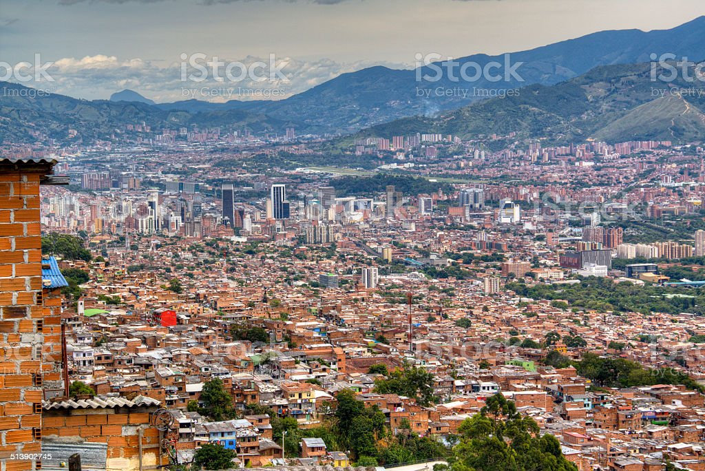 View over Medellin stock photo