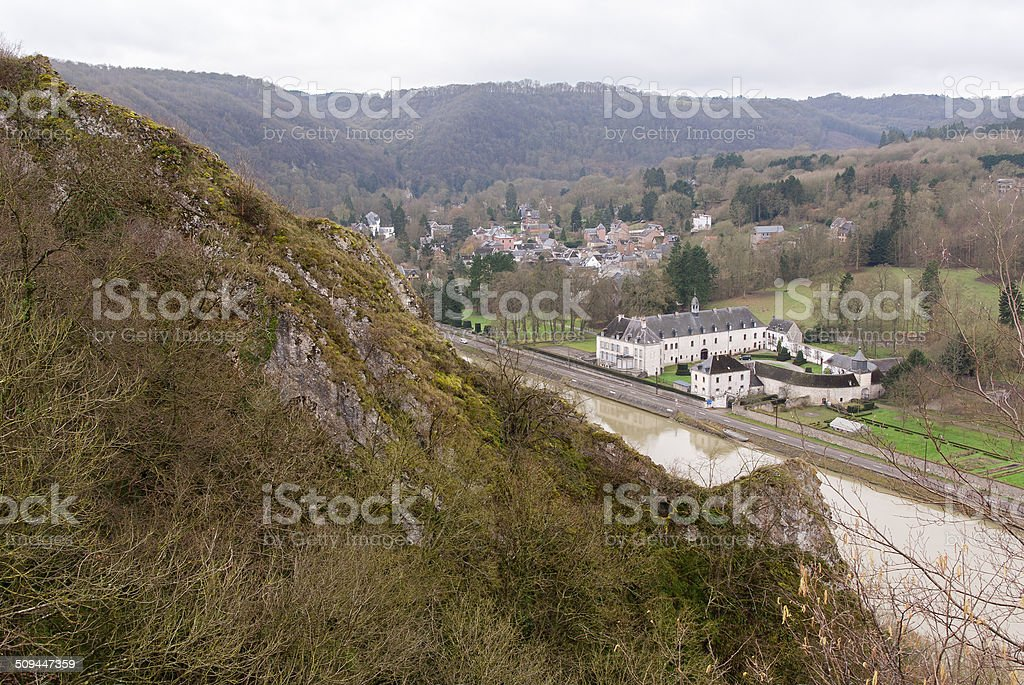 View over Meuse river stock photo