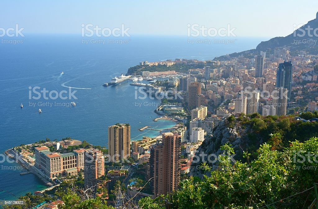 View over Monaco. stock photo