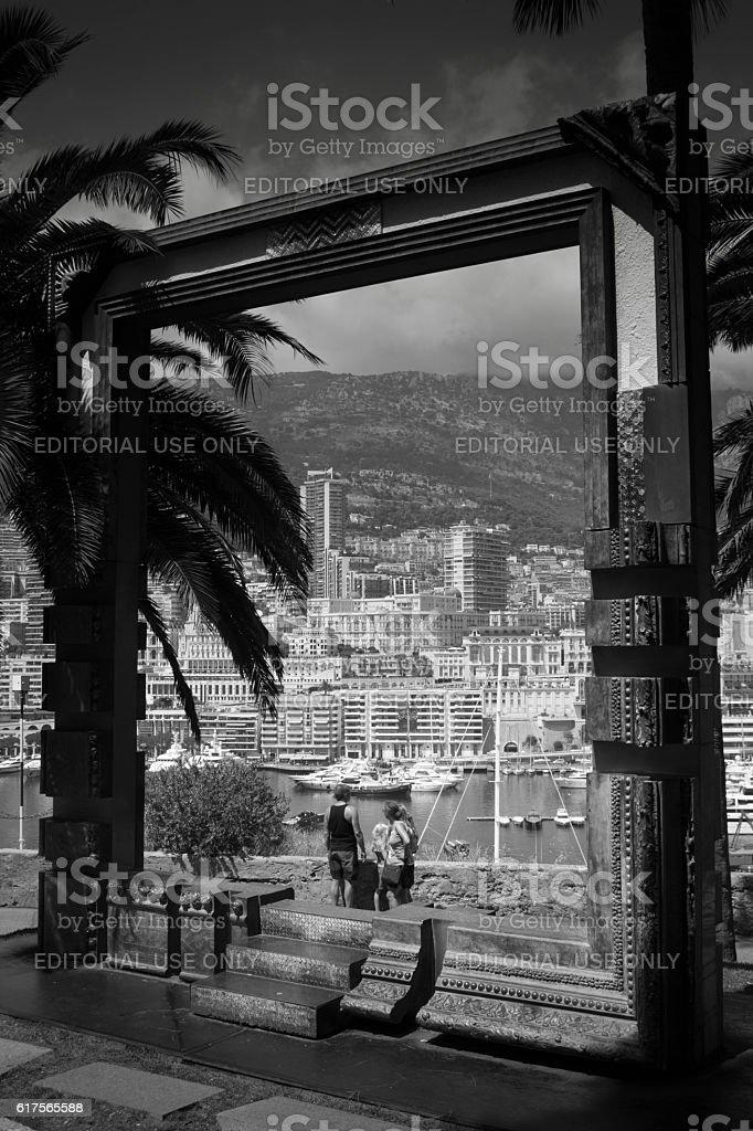 View over Monaco stock photo