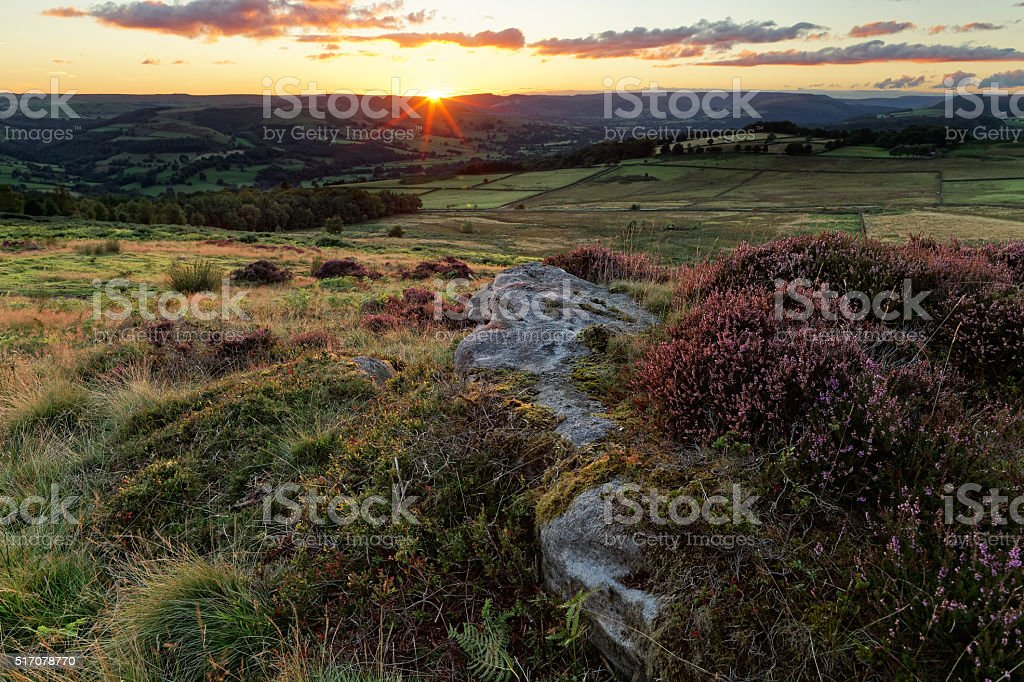 View over moorlands stock photo