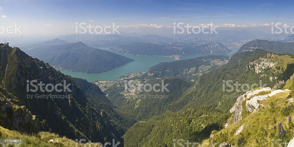 View over mountains. stock photo