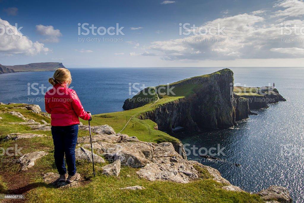 View over Neist Point, Isle of Skye stock photo