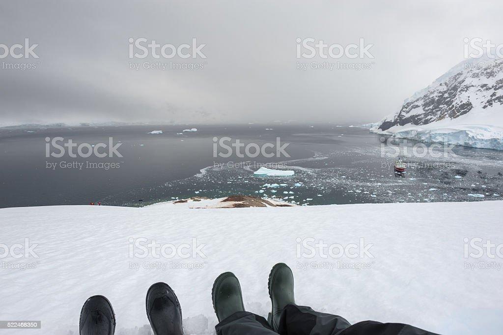 View over Neko harbour stock photo
