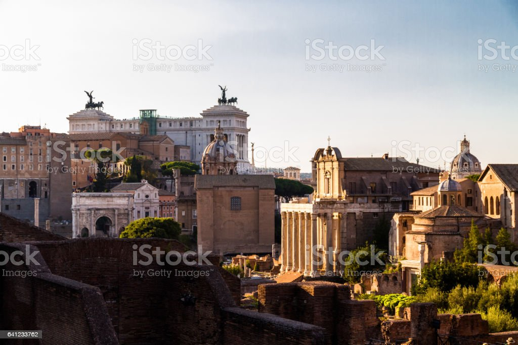 View over Palatine Hill stock photo