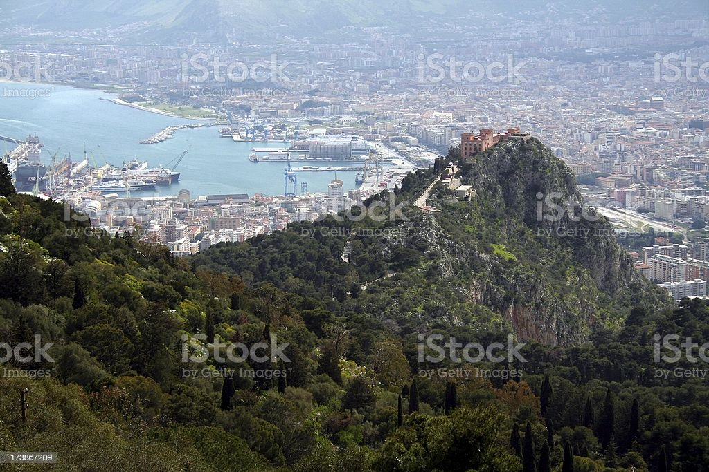 View over Palermo stock photo