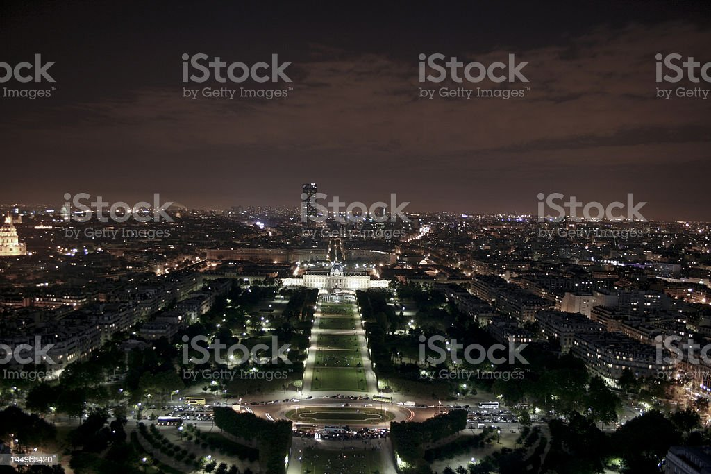 View over Paris from the Eiffel Tower. royalty-free stock photo