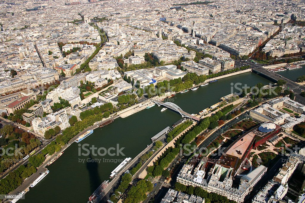 View over Paris royalty-free stock photo