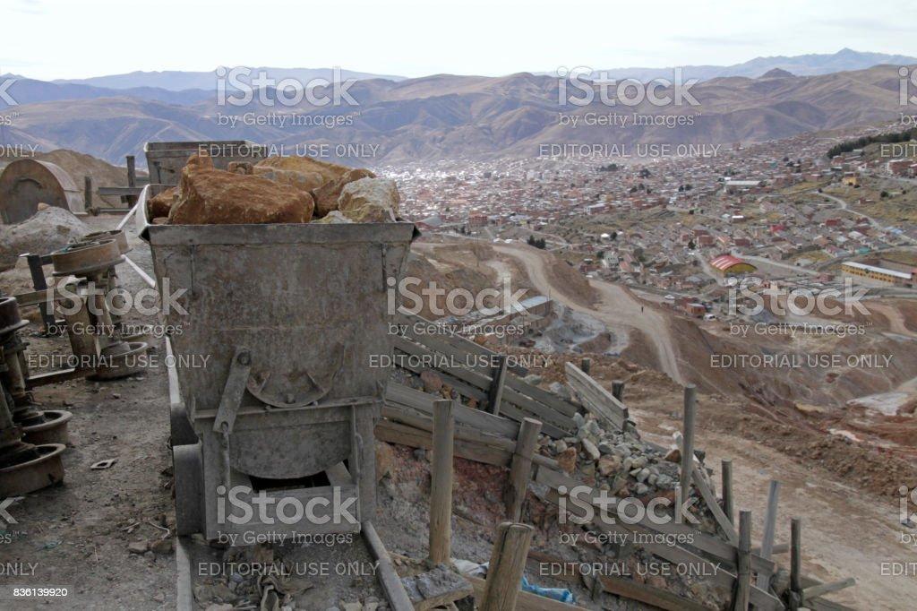 View over Potosi, Bolivia stock photo