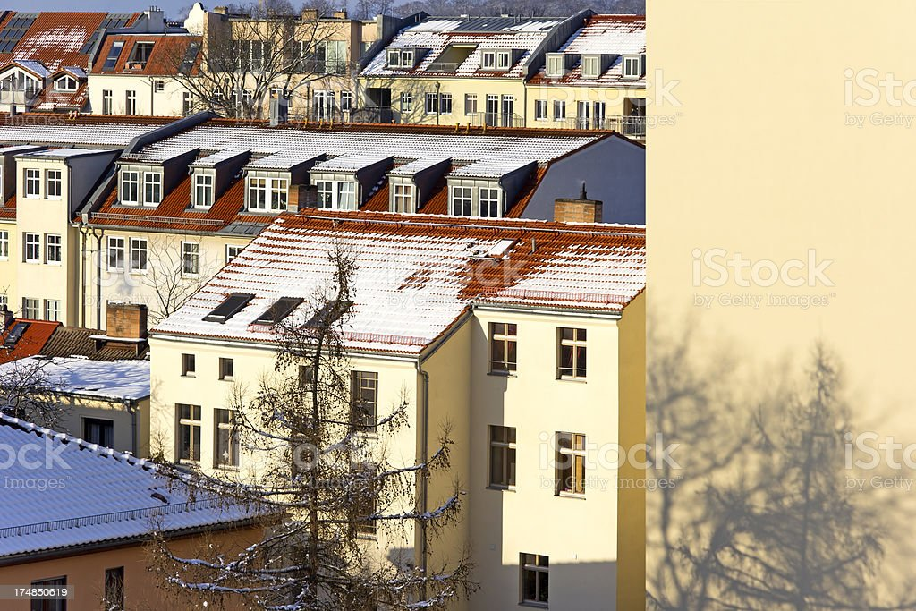 View over Potsdam-Babelsberg royalty-free stock photo
