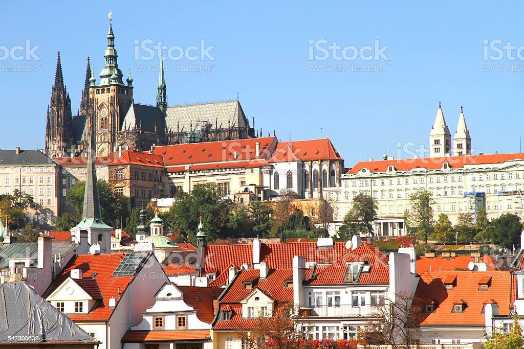 View over Prague stock photo