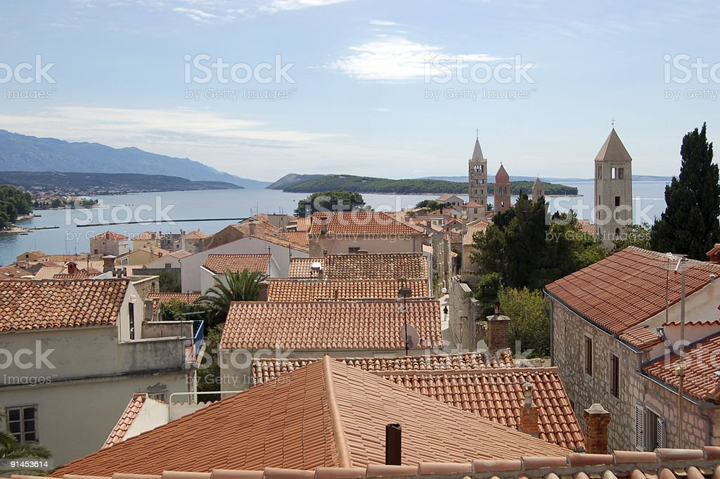 View over Rab town, Croatia royalty-free stock photo