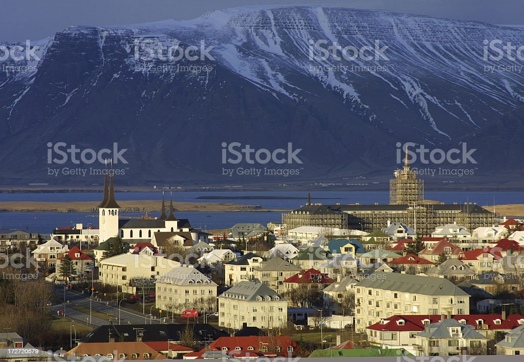 View over Reykjavik royalty-free stock photo