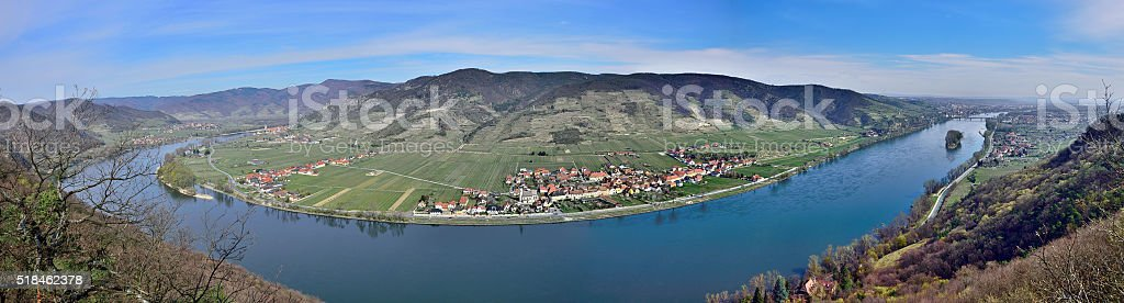 View over river Danube - Wachau - Lower Austria stock photo