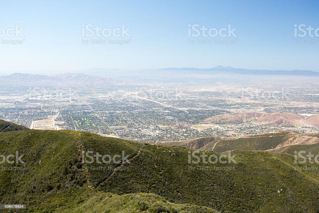 View over San Bernardino stock photo