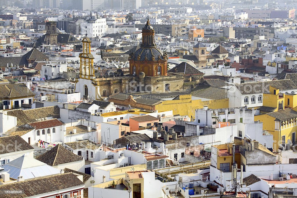 View over Sevilla royalty-free stock photo