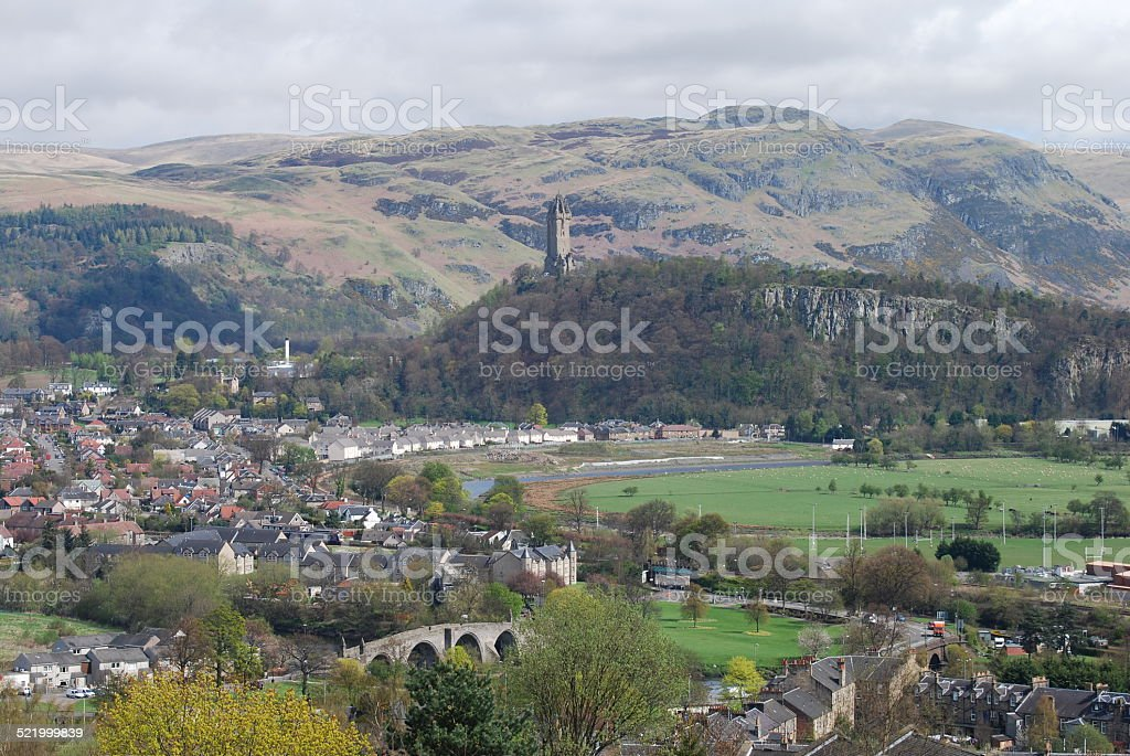 View Over Stirling stock photo