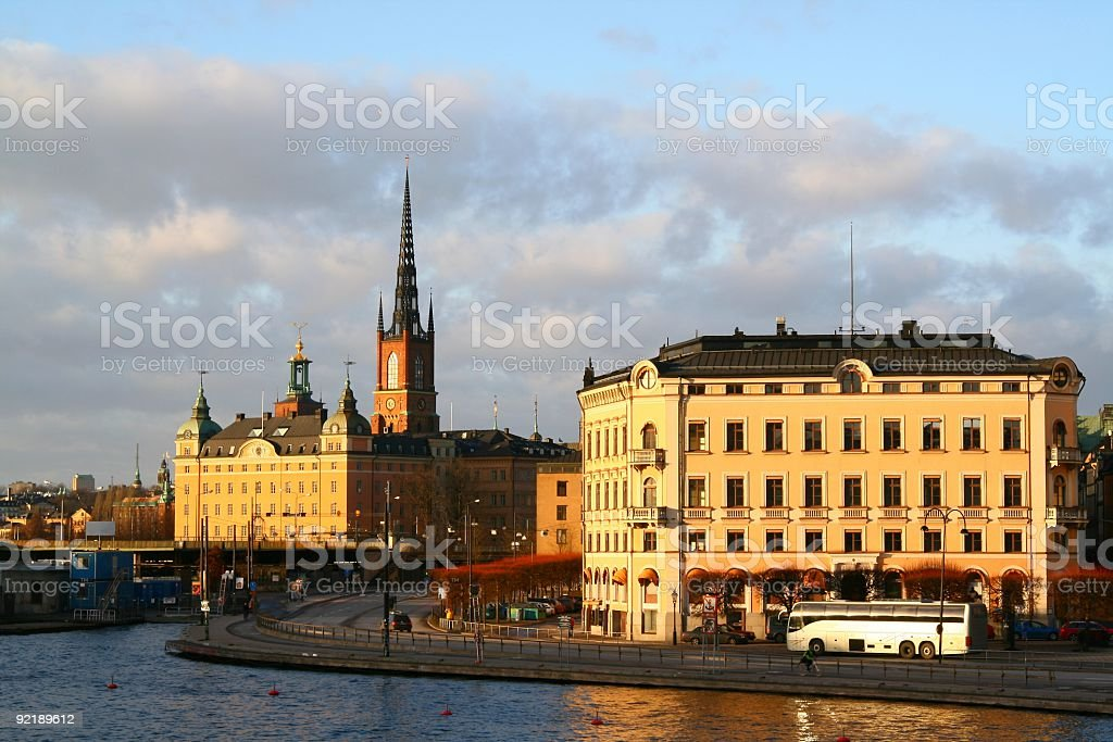 View over Stockholm City royalty-free stock photo