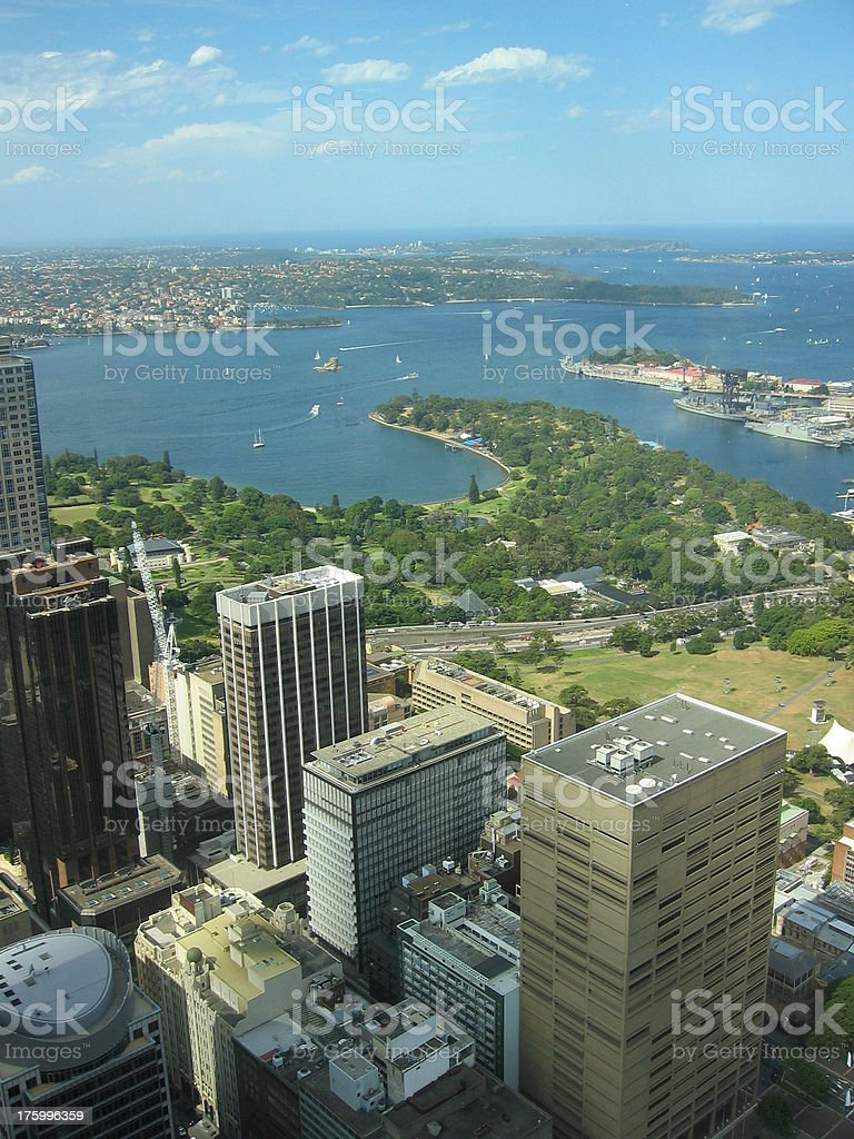 View over Sydney bay stock photo