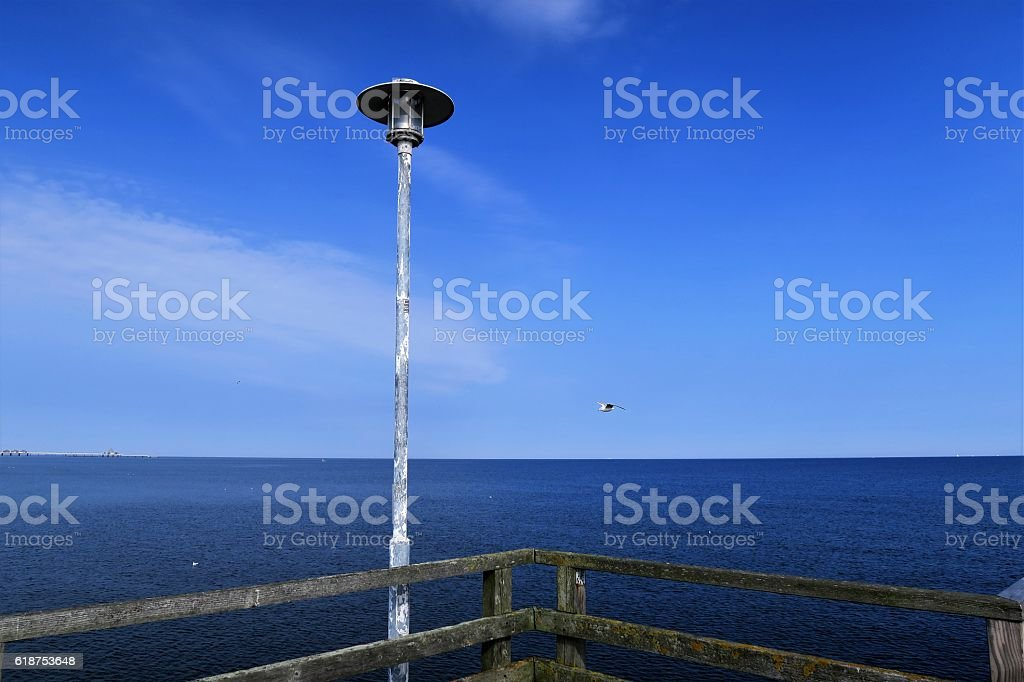 View over the Baltic Sea on the Island Usedom stock photo