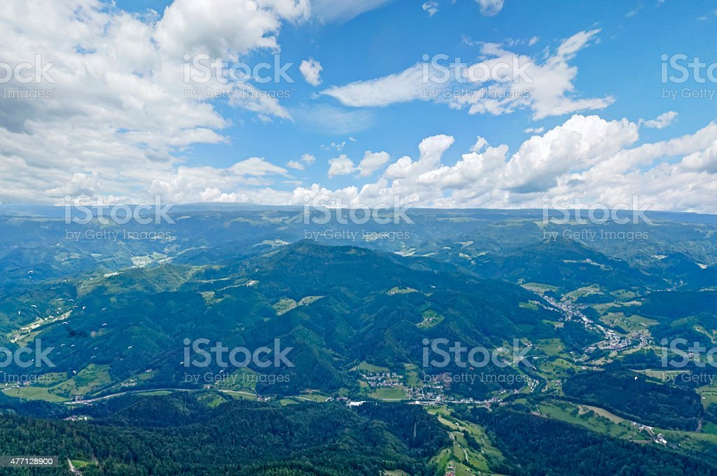 View over the Black Forest - Mountains stock photo