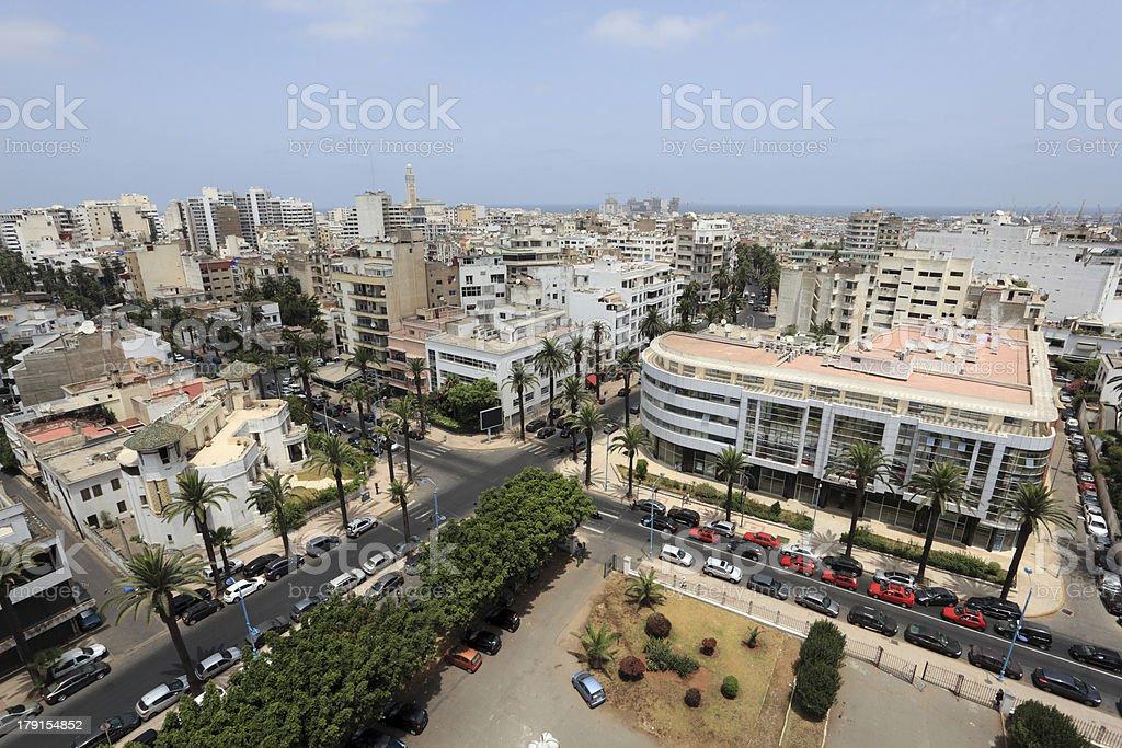 View over the city of Casablanca, Morocco stock photo
