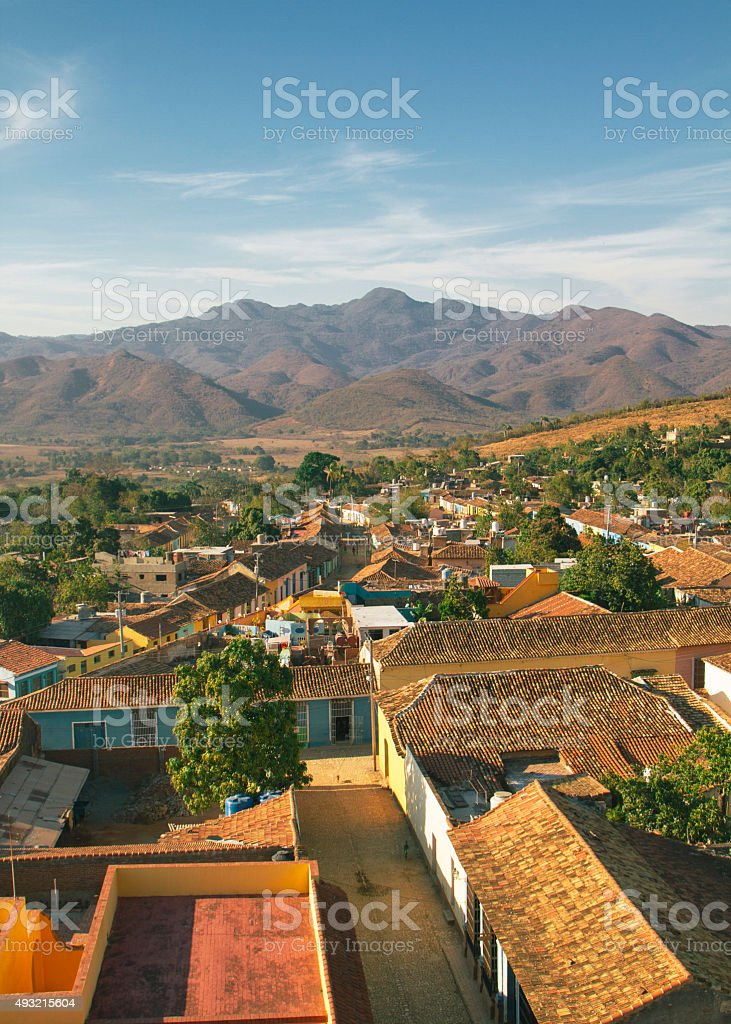 View over the city of Trinidad, Cuba stock photo