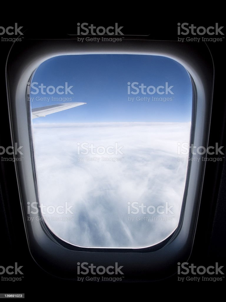 view over the clouds royalty-free stock photo