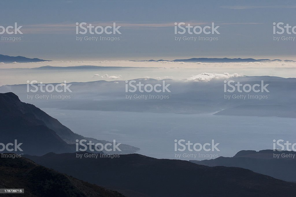 View over the clouds stock photo