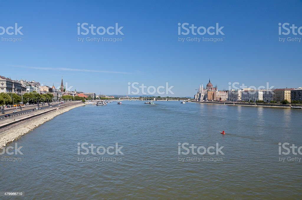 View over the Danube, Budapest. stock photo