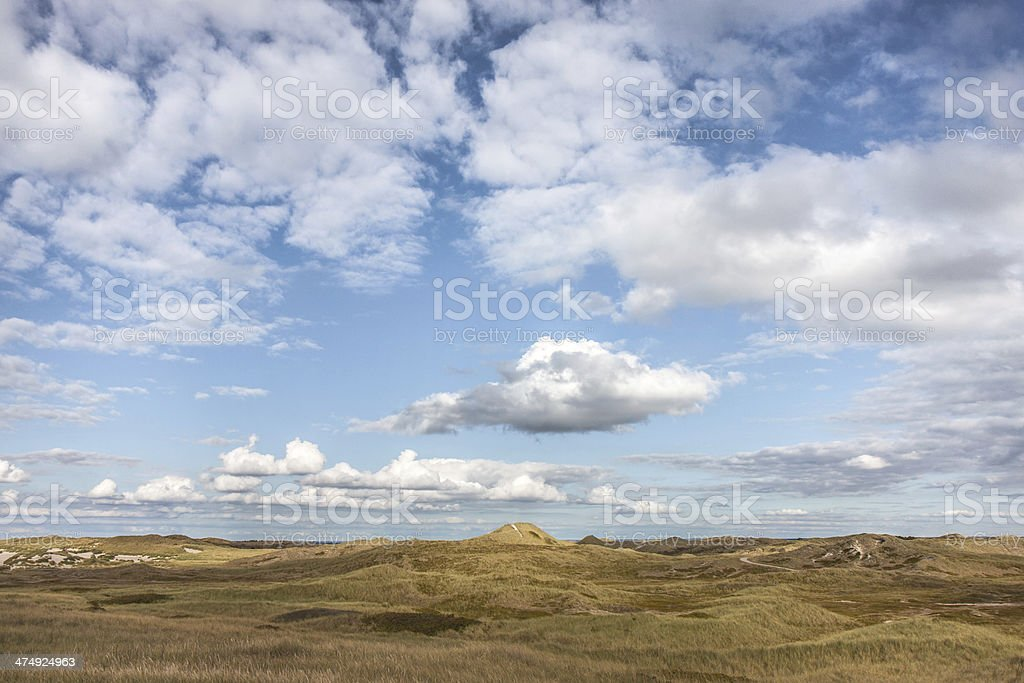 view over the dunes royalty-free stock photo