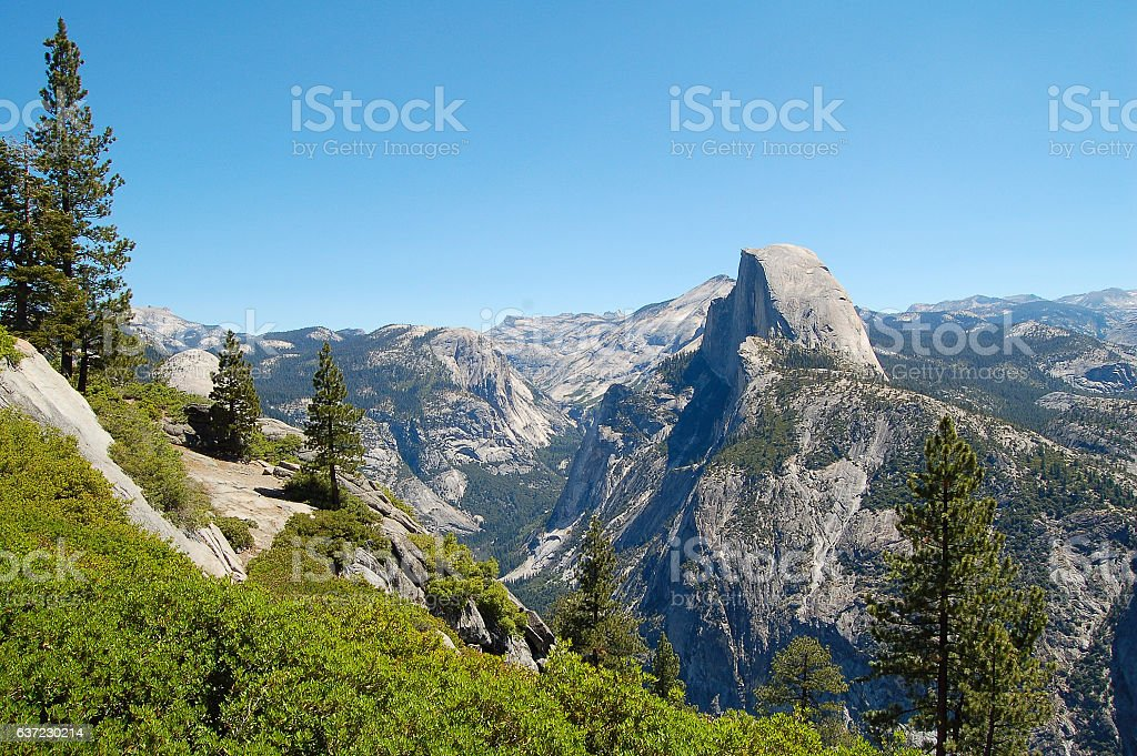 View over the Glacier Point stock photo