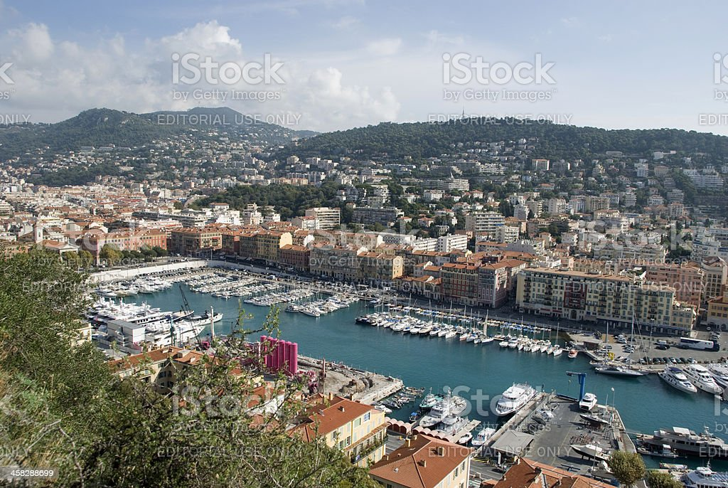 View over the harbor of Nice, France royalty-free stock photo