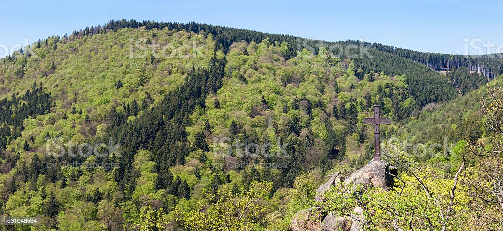 View over the Harz in Germany stock photo