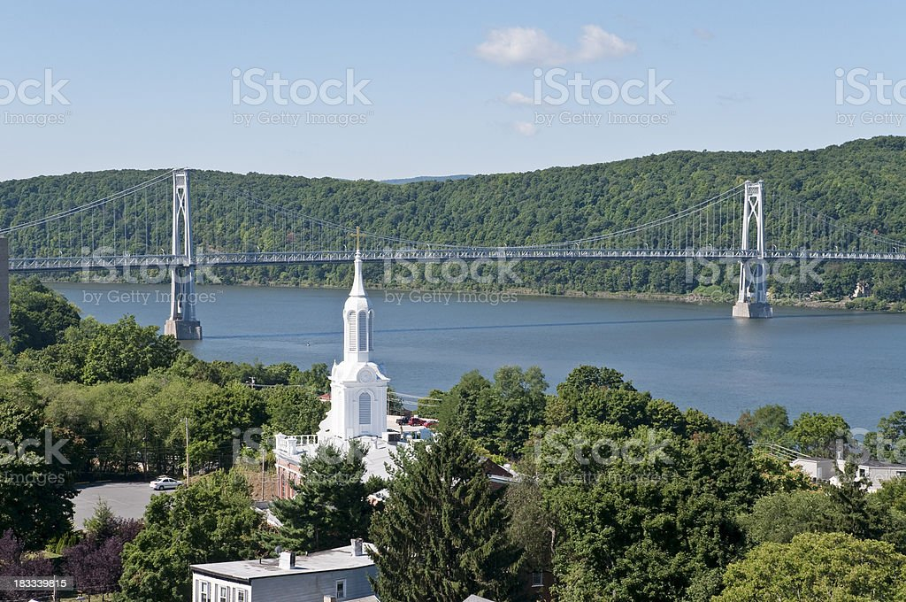 View over the Hudson stock photo
