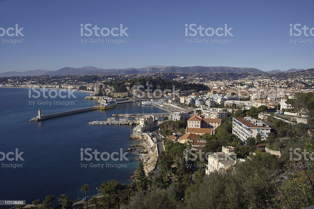 View over the old port of Nice, France royalty-free stock photo