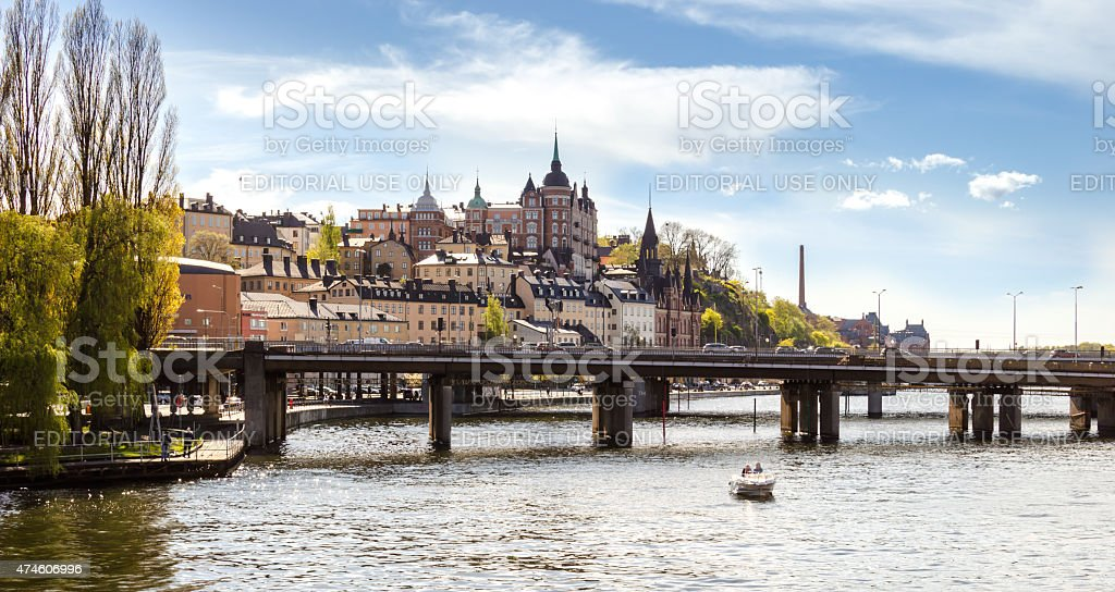View over the old soth part of Stockholm stock photo