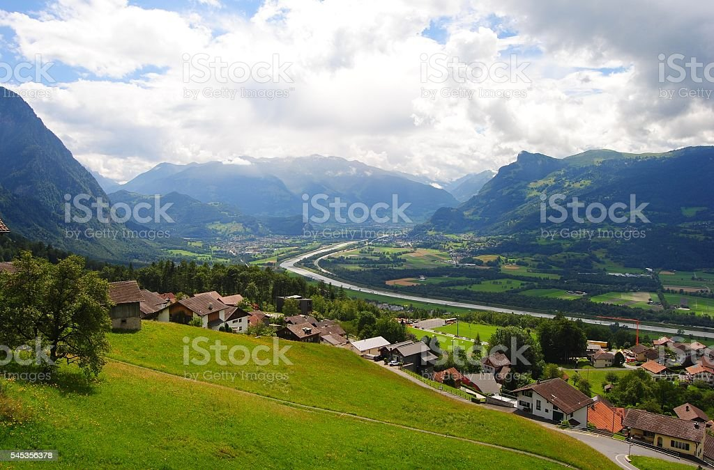 View over the Rhine valley stock photo