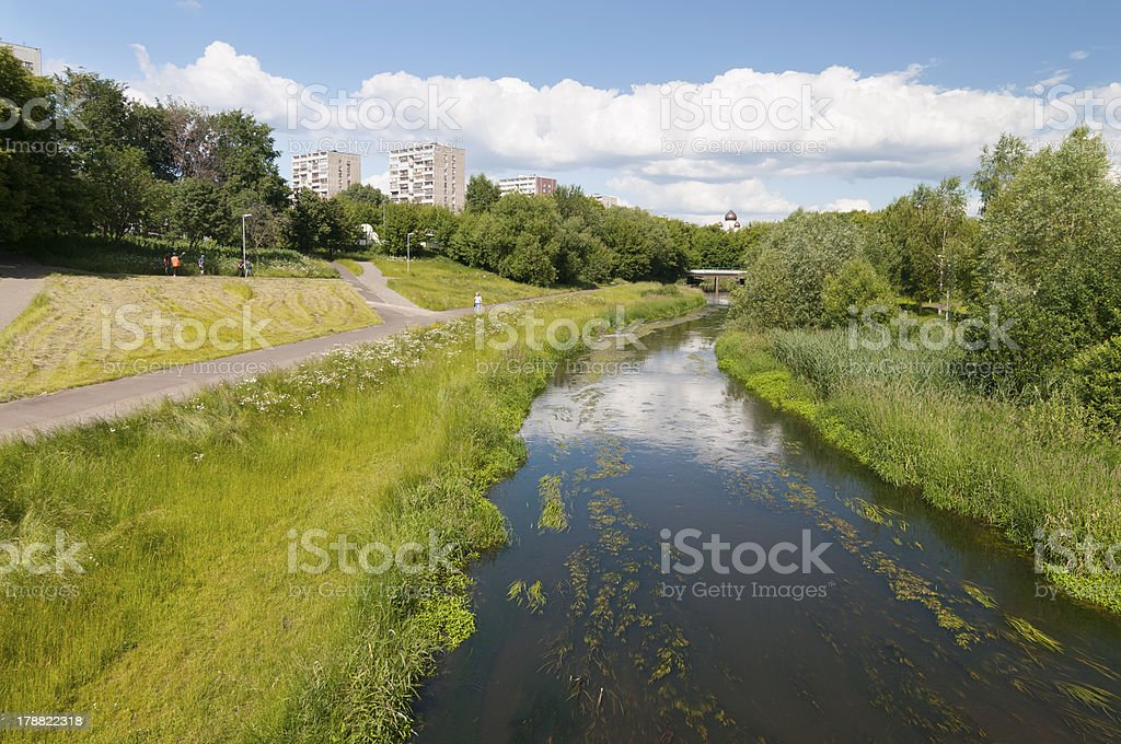 View over the river and park royalty-free stock photo