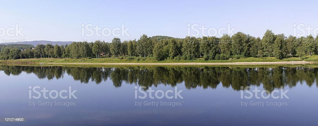 View over the river royalty-free stock photo