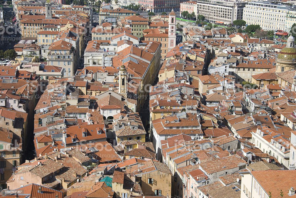 view over the roofs of nice, french riviera royalty-free stock photo