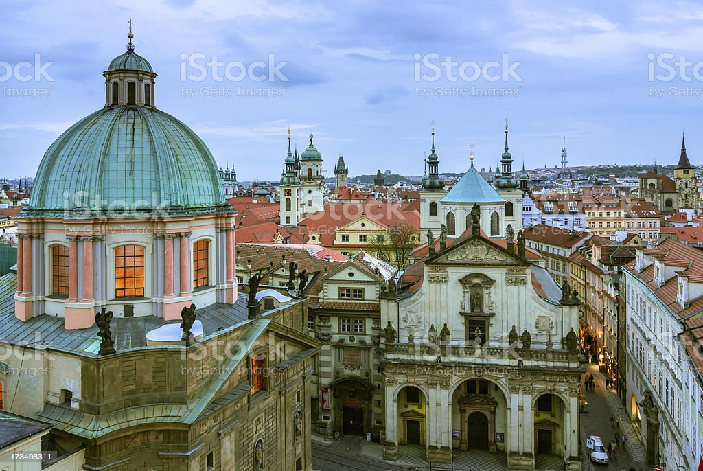 View over the rooftops in Old Town, Prague royalty-free stock photo