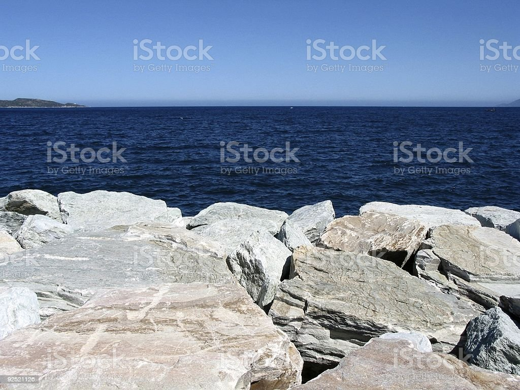 View over the sea royalty-free stock photo