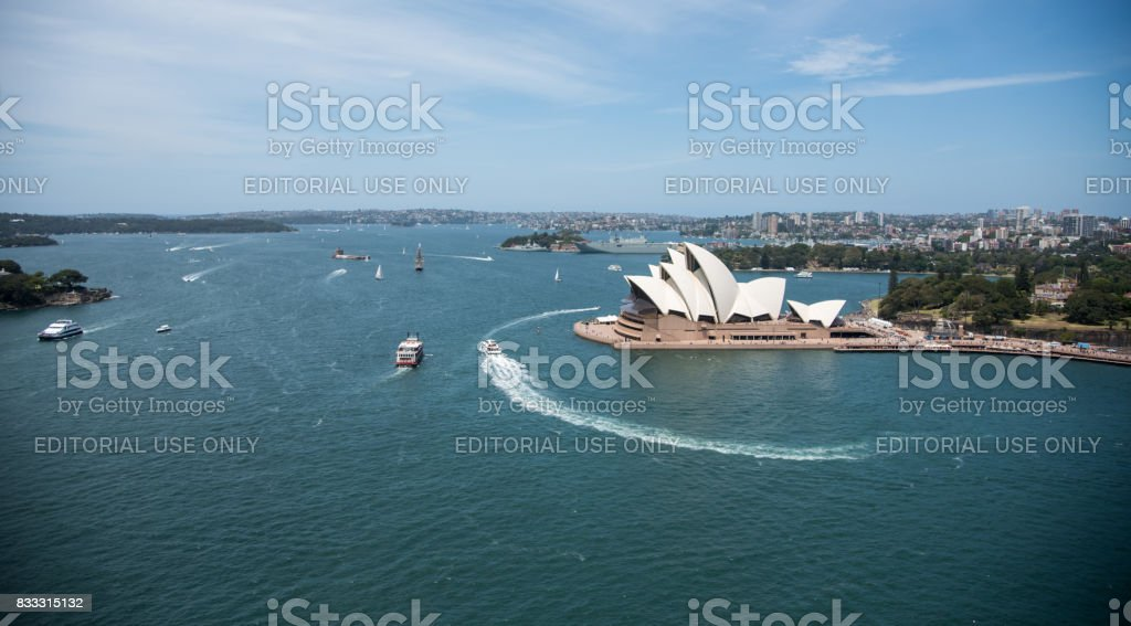 View over the Sydney Opera House and Harbour stock photo