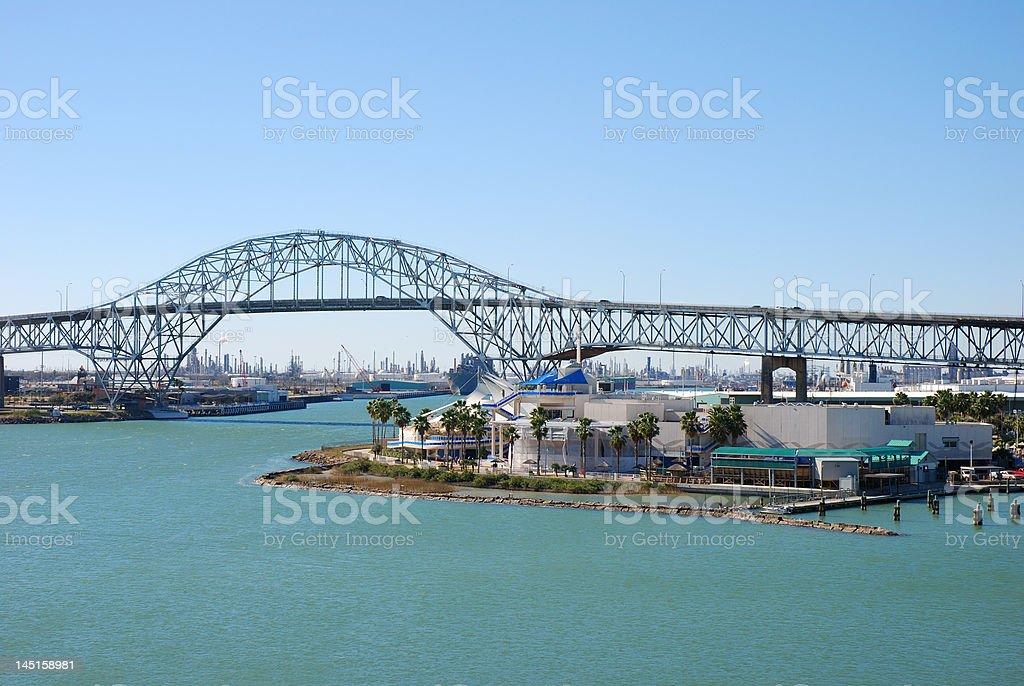 View over the Texas State Aquarium stock photo