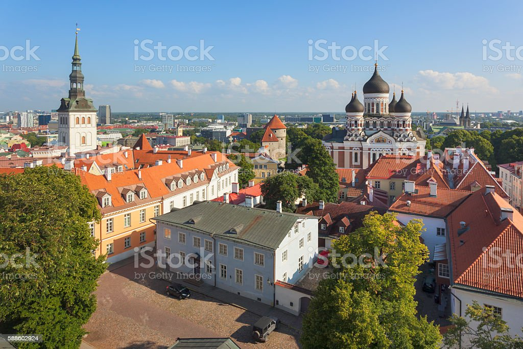 View over Toompea Hill stock photo