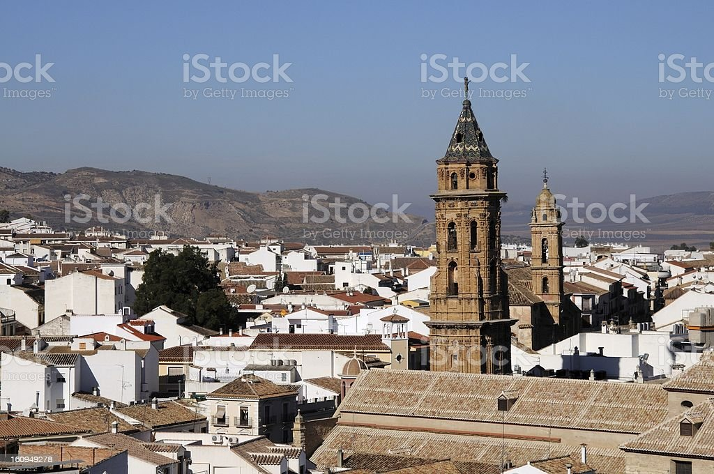 View over town rooftops, Antequera, Andalusia, Spain. royalty-free stock photo